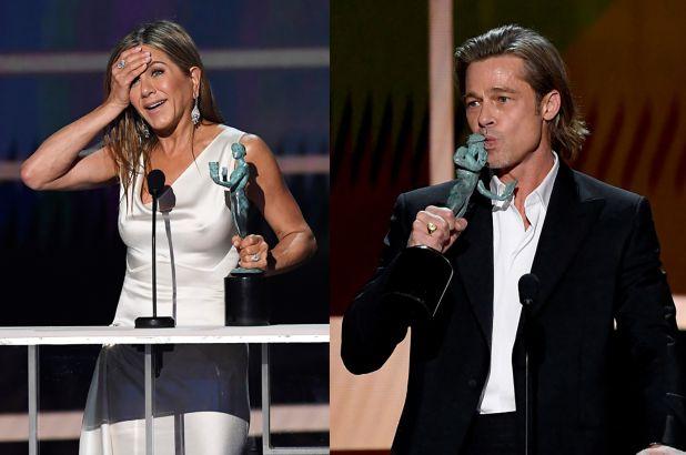 Brad Pitt ve Jennifer Aniston'ın Hoş Karşılaşması