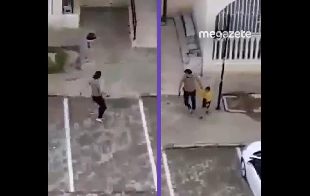 Silahla çoçuk yakalayan polise tepki yağdı!