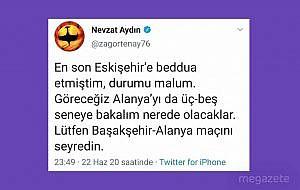 Nevzat Aydın Eskişehir'e beddua etti