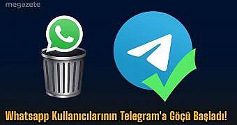 Whatsapp Kullanıcılarının Telegram'a Göçü Başladı! #WhatsAppSiliyoruz