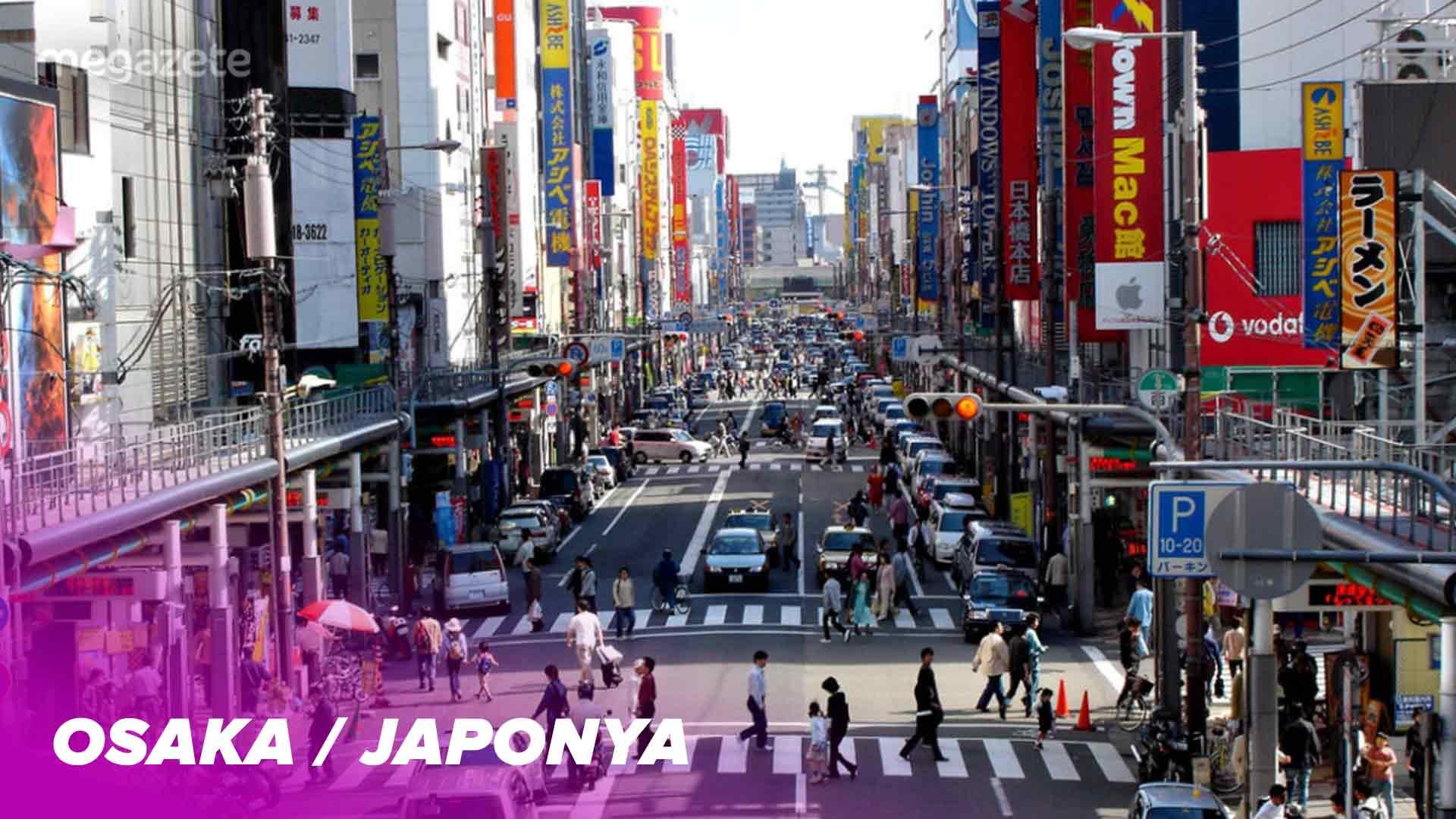 Dünyanın onuncu en kalabalık şehri Osaka